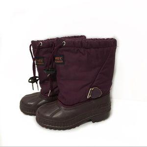 Sorel kids snow boots Purple boots size 12